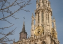 The towers of the Cathedral of Our Lady in Antwerp, Belgium