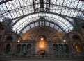 Interior of the grand Central Station in Antwerp, Belgium