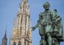 Statue of Peter Paul Rubens on the Groenplaats in Antwerp, Belgium
