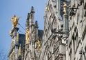 Rooftop details on the Grote Markt in Antwerp, Belgium