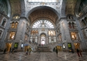 The breathtaking interior of the Central Station in Antwerp, Belgium