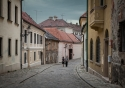 A late afternoon amble through the backstreets of Bratislava's old town in Slovakia
