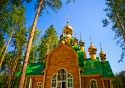 One of the seven Romanov churches in Ekaterinburg, original burial site