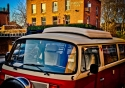 A classic Volkswagen camper van sets the mood for London local The Exmouth Arms in Camden