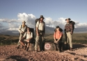 The team, from left: Dr Wiesenburger, Gareth Jones, Aaron Chervenak, Hayley Edmonds, and her assistant Sylla Saint-Guily