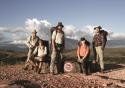 The team, from left: Dr Wiesenburger, Gareth Jones, Aaron Chervenak, Hayley Edmonds, and her assistant Sylla Saint-Guily