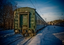 Frozen Train in Murmansk Station