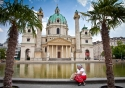 The Karlskirche (St Charles' Church) in Vienna, Austria