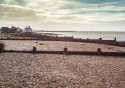 Whitstable beach on a beautiful autumn day