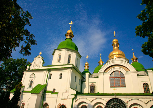 Kiev's beautiful St Sofia's Cathedral