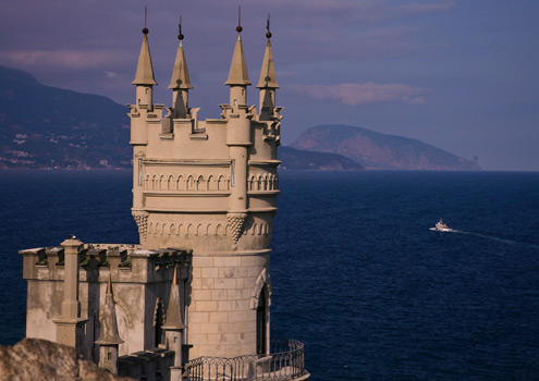 The famous Swallow's Nest at Yalta