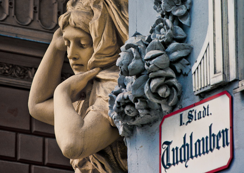 Stunning Viennese architectural detail can be seen on almost every street corner
