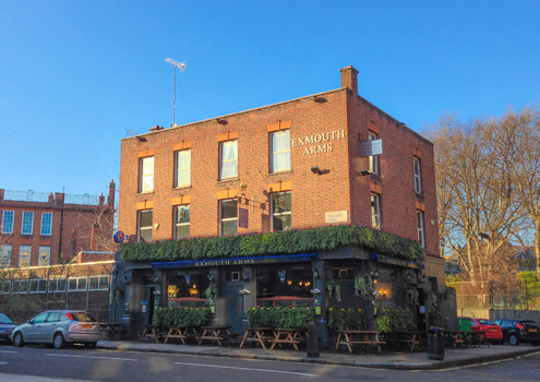The Exmouth Arms pub, London