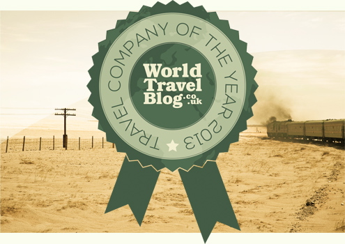 World Travel Blog Travel Company of the Year Award 2013