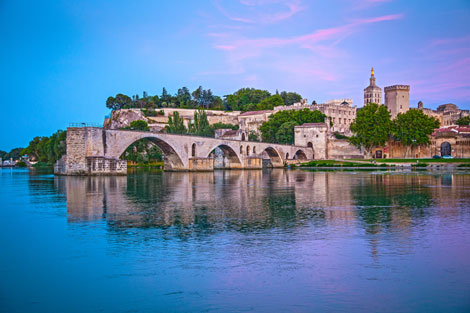 The Pont d'Avignon creates an iconic landscape