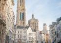 View of the picturesque Suikerrui in Antwerp, Belgium