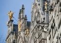 Rooftop details on the Grote Markt in Antwerp, Belgium