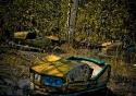 abandoned chernobyl bumper cars in pripyat