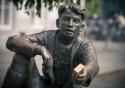Sculpture of Pieke van de Stockstraat, one of Maastricht's many statues