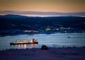 Murmansk Harbour by Night
