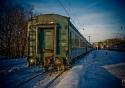 Frozen Train in Murmansk Station