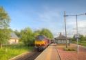 The Royal Scotsman pulls into Rannoch Station