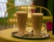 Delicious lattes at The Chocolate Box café in Antwerp, Belgium